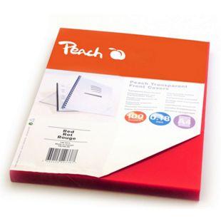 Peach Klarsicht Einbanddeckel, rot, 0.18mm,  A4, 100 Blatt - Bild 1