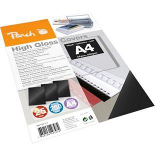 Peach Einbanddeckel hochglänzend, 250 g/m2,  A4, schwarz, 25 Blatt - Bild 1