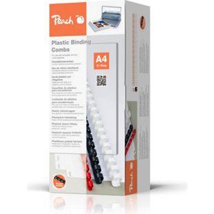 Peach Binderücken 14mm, für je 125 Blatt A4, schwarz, 100 Stück - PB414-02 - Bild 1