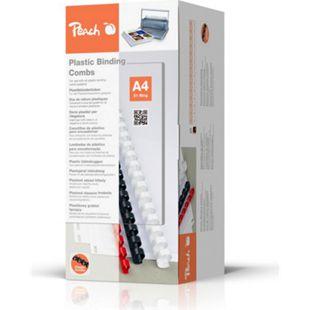 Peach Binderücken 16mm, für je 145 Blatt A4, weiss, 100 Stück - PB416-01 - Bild 1