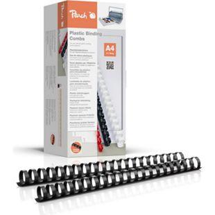 Peach Binderücken 22mm, für 210 Blatt A4, schwarz, 50 Stück, PB422-02 - Bild 1