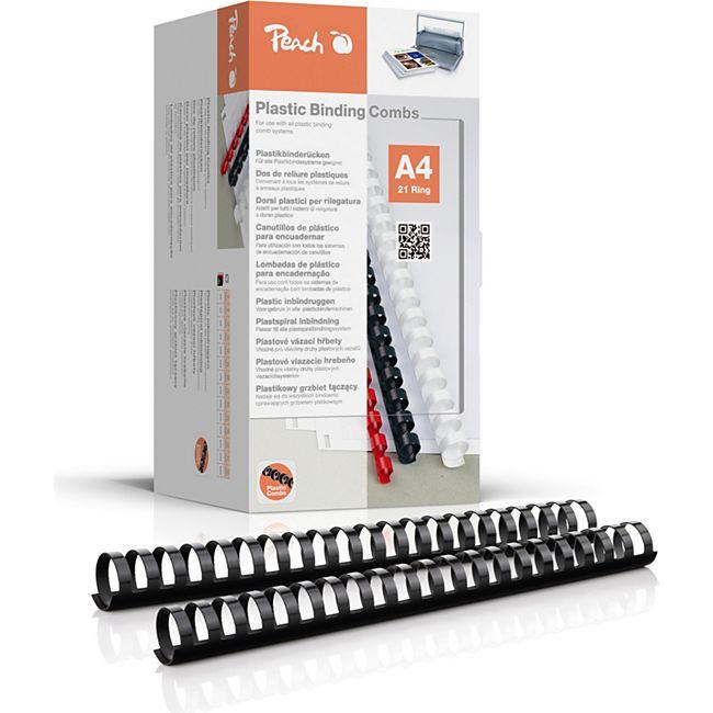 Peach Binderücken 28mm, für 270 Blatt A4, schwarz, 50 Stück, PB428-02 - Bild 1