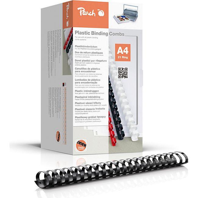 Peach Binderücken 44mm, für 440 Blatt A4, schwarz, 50 Stück, PB444-02 - Bild 1