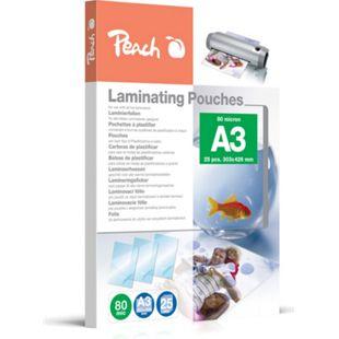 Peach Laminierfolien A3, 80 mic, glänzend, PPR080-01, 25 Stk. - Bild 1