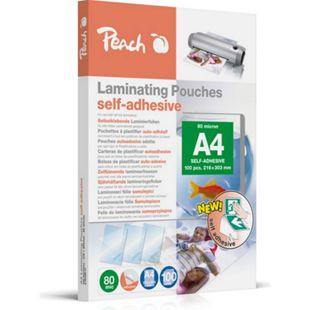 Peach Laminierfolien A4, 80 mic, selbstklebend, S-PP080-17, 100 Stk. - Bild 1