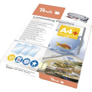 Peach Laminierfolien A4, 125 mic, glänzend, abheftbar, S-PP525-21, 100 Stk. - Bild 1