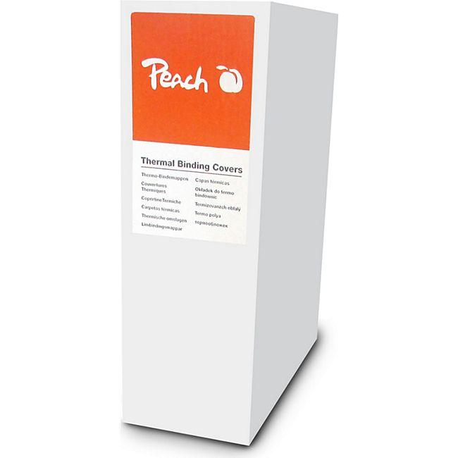 Peach Thermobindemappe weiss für 120 Blätter (A4, 80g/m2), 10 Stück - PBT312-01 - Bild 1