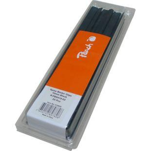 Peach Plastik Klemmschienen, 10mm, schwarz, 25 Stk., R-PBS410-02 - Bild 1