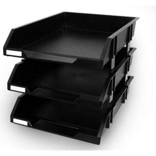 Peach Ablageboxen, 3-teilig, schwarz - Bild 1