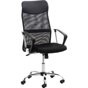 CLP Bürostuhl WASHINGTON höhenverstellbarer Drehstuhl mit Wippfunktion | Schreibtischstuhl mit Netzbezug I stabiles Metall Drehkreuz - Bild 1
