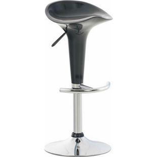 CLP Barhocker SADDLE mit drehbarem Kunsttoffsitz und Fußablage I Höhenverstellbarer Hocker mit Metallgestell in Chrom-Optik... grau - Bild 1