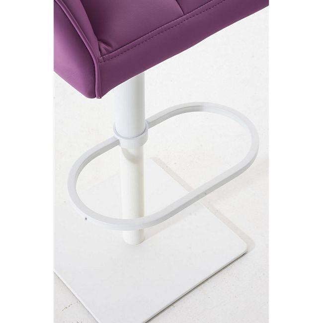 CLP Barhocker DAMASO mit Kunstlederbezug und hochwertiger Polsterung I Barstuhl mit Lehne I Höhenverstellbarer Tresenstuhl mit Fußstütze