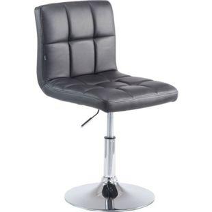 CLP Drehstuhl PALMA V2 mit hochwertiger Polsterung und Kunstlederbezug I Höhenverstellbarer Esszimmerstuhl mit Metallgestell in Chrom-Optik - Bild 1