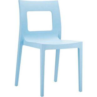 Kunststoff-Gartenstuhl LUCCA XXL | Pflegeleichter Stapelstuhl für den Innen-und Außenbereich | In verschiedenen Farben erhältlich... hellblau - Bild 1