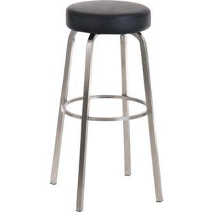 CLP Edelstahl-Barhocker KAMARI, rund, 4 Beine, Sitzhöhe 78 cm - Bild 1