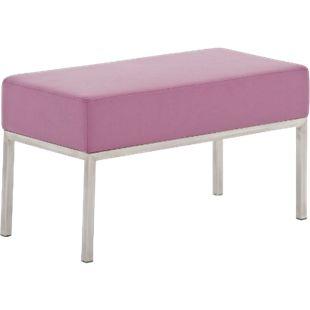 CLP 2er-Sitzbank LAMEGA mit hochwertiger Polsterung und pflegeleichtem Kunstlederbezug I Moderne Sitzbank mit robustem Edelstahlgestell... lila - Bild 1