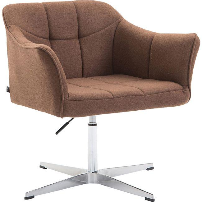 CLP Lounger JEAN mit Stoffbezug | drehbarer & höhenverstellbarer Sessel | Lehnstuhl mit Aluminiumgestell | Sitzhöhe von 41 - 54 cm - Bild 1