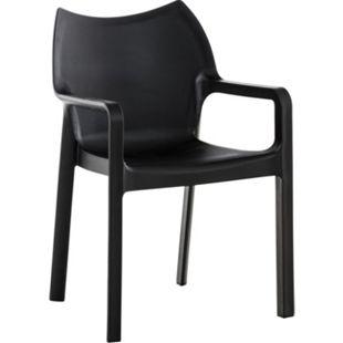 CLP Kunststoff-Gartenstuhl DIVA mit Armlehnen I XXL- Kunststoffstuhl mit einer Belastbarkeit von 160 kg - Bild 1