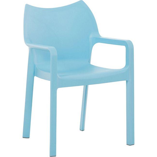 CLP Kunststoff-Gartenstuhl DIVA mit Armlehnen I XXL- Kunststoffstuhl mit einer Belastbarkeit von 160 kg... hellblau - Bild 1