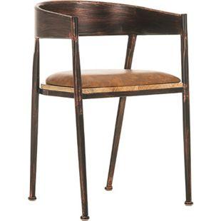 CLP Industrial Design-Stuhl BELVEDERE mit hochwertiger Polsterung und Kunstlederbezug | Metallstuhl mit einer Sitzhöhe von 48 cm - Bild 1