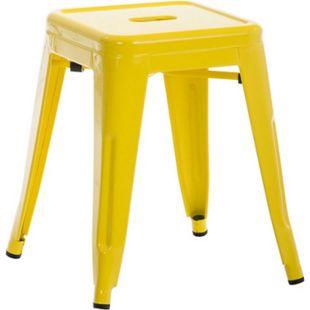 CLP Sitzhocker ARMIN aus Metall I Stapelbarer Hocker mit einer Sitzhöhe von: 46 cm I Pflegeleichter Arbeitshocker I In verschiedenen Farben erhältlich - Bild 1
