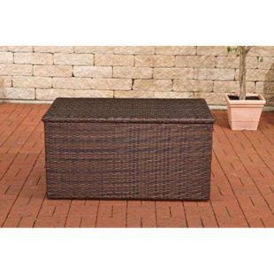 CLP Polyrattan-Aufbewahrungsbox I Gartentruhe für Kissen und Auflagen I In verschiedenen Farben und Größen erhältlich... braun-meliert, M - Bild 1