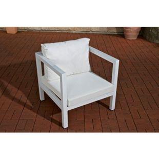 CLP Sessel VITUS LIVING Outdoor Lounge-Set Vitus ? das ?Sofa-Feeling? für Draußen... weiß, Cremeweiß - Bild 1