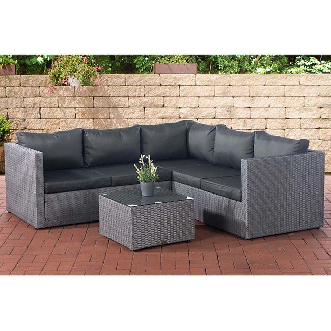 clp polyrattan lounge set liberi mit 5 sitzpl tzen l. Black Bedroom Furniture Sets. Home Design Ideas