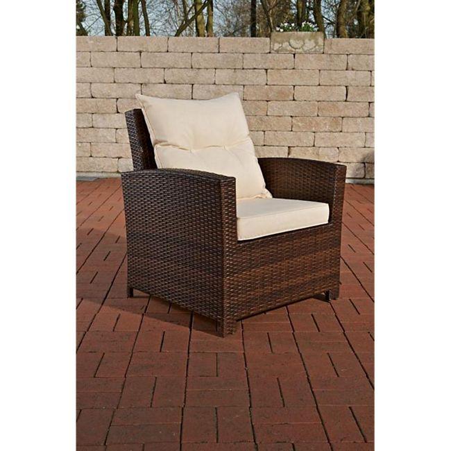 CLP Polyrattan-Sessel FISOLO inklusive Sitzkissen I Robuster Gartenstuhl mit einem Untergestell aus Aluminium I In verschiedenen Farben erhältlich - Bild 1