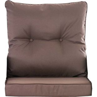 CLP 10er Kissen Set für Gartengarnitur FISOLO Flachrattan, aus 100 % Polyester, bis zu 5 Farben wählbar... terrabraun - Bild 1