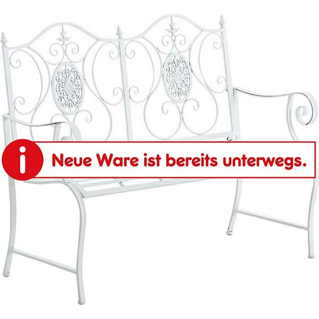 CLP Gartenbank PUNJAB, lackiertes Eisen, antik, Landhaus-Stil, Nostalgie, ca. 120 x 50 cm - Bild 1