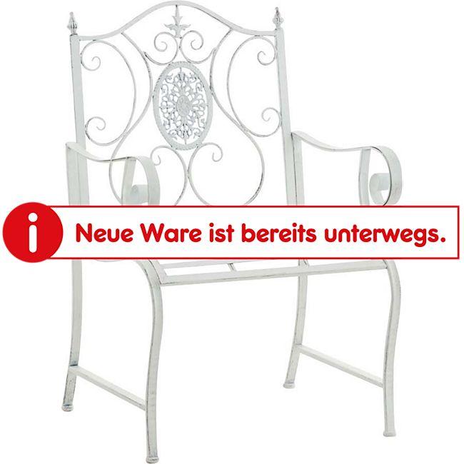 CLP Lackierter Eisen-Gartenstuhl PUNJAB mit Armlehne I Outdoor-Stuhl im Landhausstil I In verschiedenen Farben erhältlich - Bild 1