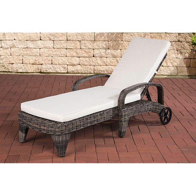 clp polyrattan sonnenliege luini wellnessliege mit laufrollen sonnenliege mit verstellbarer. Black Bedroom Furniture Sets. Home Design Ideas