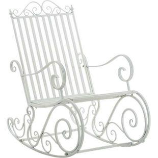 CLP Eisen-Schaukelstuhl SMILLA im Landhausstil I Schwingstuhl mit hoher Rückenlehne I In verschiedenen Farben erhältlich - Bild 1