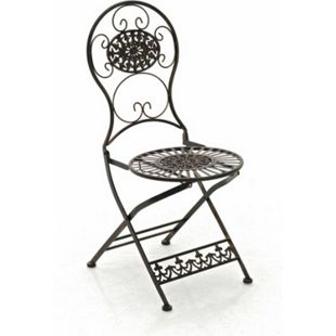 CLP Eisen-Klappstuhl MANI im Jugendstil I Antiker handgefertigter Gartenstuhl aus Eisen I In verschiedenen Farben erhältlich - Bild 1