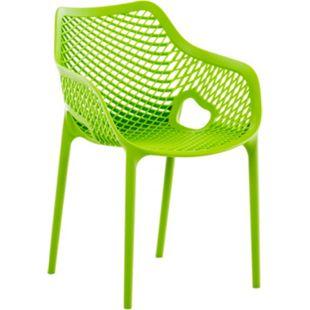 CLP XL-Bistrostuhl AIR aus Kunststoff I Stapelstuhl AIR mit einer Sitzhöhe von 44 cm I Outdoor-Stuhl mit Wabenmuster I In verschiedenen Farben erhältlich - Bild 1