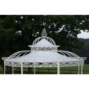 CLP Dach für Luxus Pavillon ROMANTIK (Durchmesser: 350 oder 500 cm), Wasserdichte PVC Plane... weiß, Ø 350 cm - Bild 1