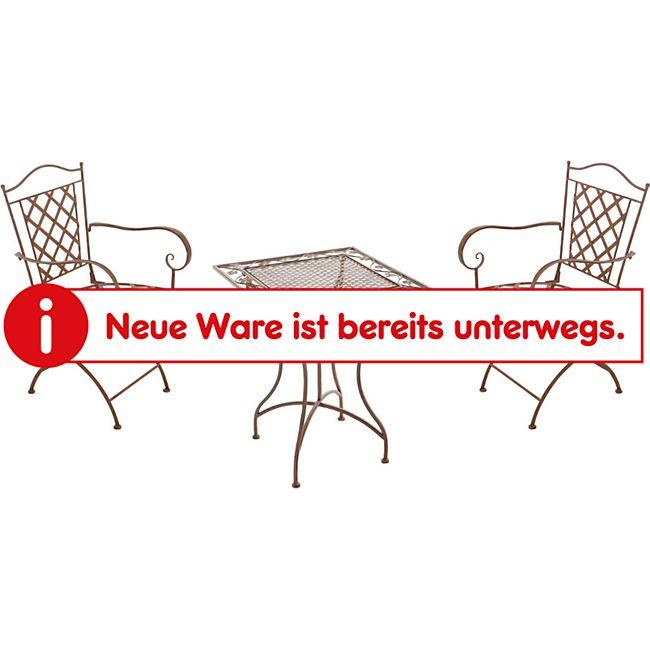 CLP Garten-Sitzgruppe PAYO aus Eisen I Antike Gartenmöbel aus lackiertem Eisen I 1 Tisch und 2 Stühle I In verschiedenen Farben erhältlich - Bild 1
