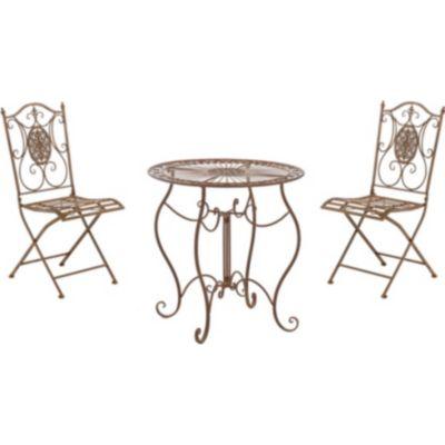 gartenmobel metall jugendstil, clp garten-sitzgruppe aldeano aus eisen i 2x klappstuhl und 1x tisch, Design ideen