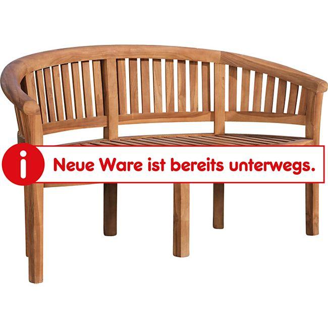 CLP Teakholz-Gartenbank WINNIPEG I Holzbank mit runder Lehne I In verschiedenen Größen wählbar - Bild 1