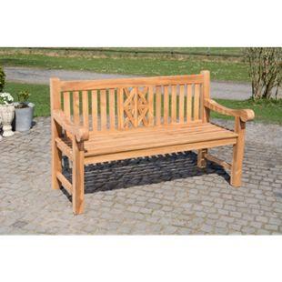 CLP Teak-Gartenbank Florida I Sitzbank Mit Ergonomischer Sitzfläche Aus Vollholz I Sitzhöhe: 44 CM - Bild 1