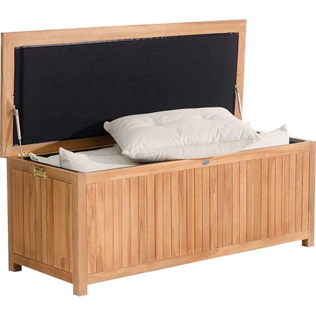 CLP Auflagenbox ODESSA aus Teakholz I Gartentruhe für Kissen und Auflagen I In verschiedenen Größen erhältlich - Bild 1