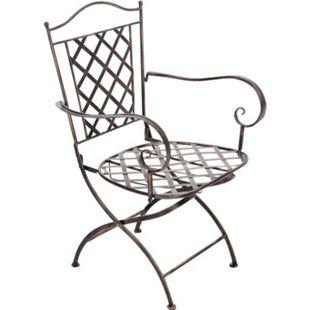 CLP Eisenstuhl ADARA im Jugendstil I Outdoor-Stuhl mit Armlehnen I Handgefertigter Gartenstuhl aus Eisen I In verschiedenen Farben erhältlich - Bild 1
