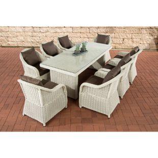 CLP Polyrattan Gartengarnitur LAVELLO XL I Sitzgruppe mit 8 Sitzplätzen I Pflegeleichte Gartenmöbel mit Aluminium-Gestell - Bild 1