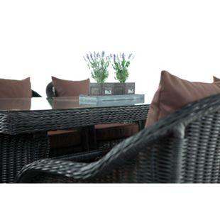 CLP Polyrattan Gartengarnitur LAVELLO XL I Sitzgruppe mit 8 Sitzplätzen I Pflegeleichte Gartenmöbel mit Aluminium-Gestell... schwarz, Terrabraun - Bild 1