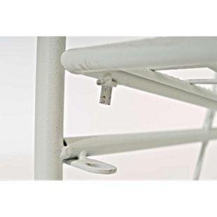 CLP ARONA stabiles Standregal im Landhausstil I Klappbares Eisenregal mit 4 Regalböden I In verschiedenen Farben erhältlich - Bild 1