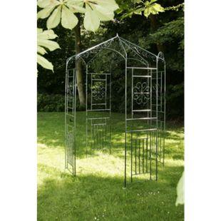 CLP Rosenpavillon aus Eisen mit stilvollen Verzierungen | Rankpavillion aus pulverbeschichtetem Eisen | Gartendekoration im Jugendsstil... grün - Bild 1