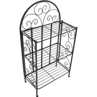 CLP ROSA stabiles Standregal im Landhausstil I Klappbares Eisenregal mit 3 Regalböden I In verschiedenen Farben erhältlich - Bild 1