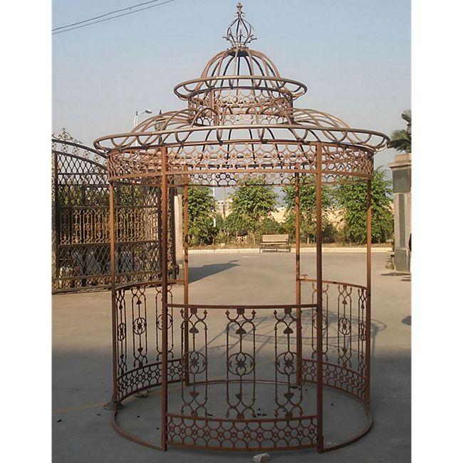 CLP Garten-Pavillon CROWN, Pavillion mit Seitenwänden, rund Ø 2 Meter, Höhe 340 cm, stabiles Eisen (Metall), stilvolles Design - Bild 1