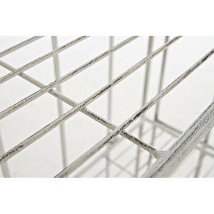 CLP Standregal FLORA aus Eisen I Klappregal mit 4 Ablagefächern im Landhausstil I In verschiedenen Farben erhältlich - Bild 1
